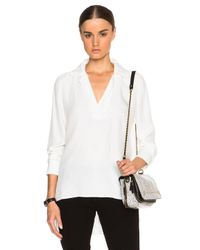 FRAME   White Le High Low Top   Lyst