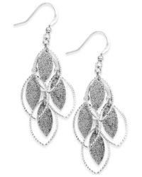 Style & Co. | Metallic Glitter Navette Kite Earrings | Lyst