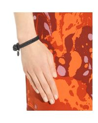 Bottega Veneta | Black Knot Woven Leather Bracelet | Lyst