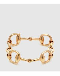 Gucci - Horsebit Bracelet In Yellow Gold - Lyst