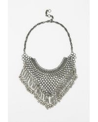 Urban Outfitters - Black Bell Mesh Bib Necklace - Lyst