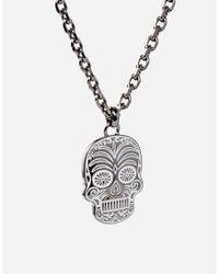 Simon Carter - Metallic Sugar Skull Necklace Exclusive To Asos for Men - Lyst