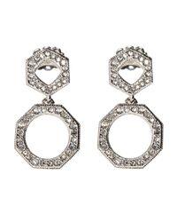 Nadri - Metallic Open Drop Earrings - Lyst