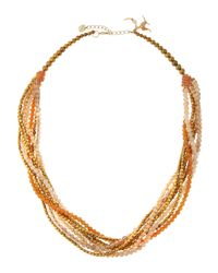 Nakamol | Metallic Crystal & Agate Multi-strand Necklace | Lyst