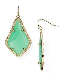 Kendra Scott | Green Alex Drop Earrings | Lyst