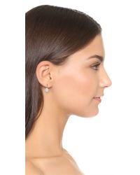 Marc Jacobs - Metallic Small Crystal Hook Earrings - Lyst