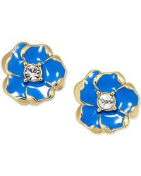 kate spade new york - Blue Gold-tone Beach House Bouquet Stud Earrings - Lyst