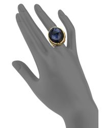 Alexis Bittar - Blue Elements Dark Alchemy Hematite & Crystal Serpent Poison Cocktail Ring - Lyst
