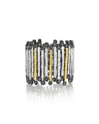 Coomi | Metallic Spring Tricolor Gold & Silver Band Ring | Lyst