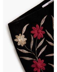 Mango | Black Flowers Velvet Short | Lyst