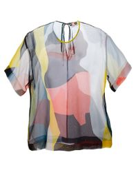 MSGM | Multicolor Abstract Print Top | Lyst