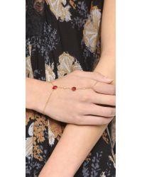 Jacquie Aiche - Metallic Ja Cz + Crystal Finger Bracelet - Lyst
