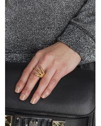 Alexander McQueen   Metallic Gold Tone Talon Ring   Lyst
