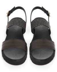 Inuovo - Green Studded Strap Sandals - Lyst