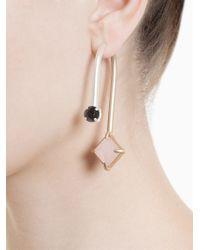 Volha - Metallic Geometric Stud Earring - Lyst
