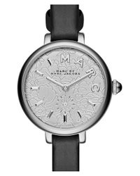 Marc Jacobs | Black 'sally' Leather Strap Watch | Lyst