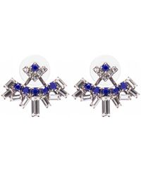 DANNIJO | Blue Silver-plated Dawson Swarovski Crystal Earrings | Lyst