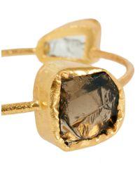 Kasturjewels   Metallic 22kt Gold Plated Semi Precious Stone Bangle   Lyst