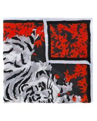 KENZO - Gray 'bamboo Tiger' Scarf - Lyst