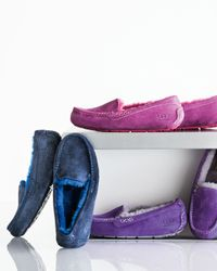 UGG - Blue Ansley Moccasin Slipper - Lyst