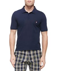 Band of Outsiders - Blue Mushroom-Embroidered Polo Shirt for Men - Lyst