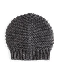 Brunello Cucinelli | Brown Knit Paillettes Beanie Hat | Lyst