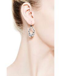 Kwiat | Metallic Cobblestone Circle Earrings in White Diamond | Lyst