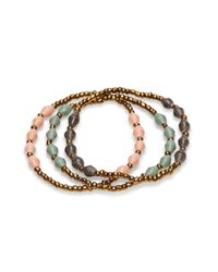 31 Bits | Green Sage, Grey, And Pink Beaded Bracelets | Lyst