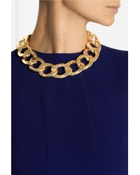 Kenneth Jay Lane | Metallic Gold-Plated Chain-Link Necklace | Lyst