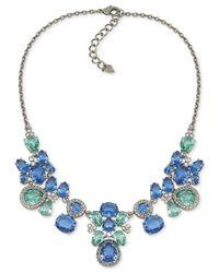 Carolee | Blue Dark Star Geometric Drop Necklace | Lyst