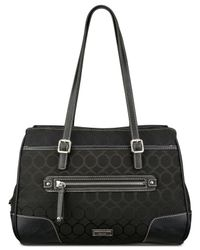 Nine West | Black 9 Jacquard Satchel | Lyst
