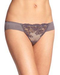 Natori Foundations | Gray Blossom Lace Bikini | Lyst