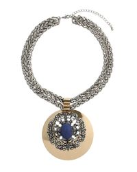 TOPSHOP - Womens Blue Lapis Stone Chunky Necklace Navy Blue - Lyst