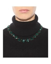Dolce & Gabbana - Green Crystal-embellished Necklace - Lyst