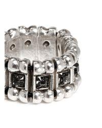 Philippe Audibert | Metallic 'lisa' Crystal Bead Elastic Ring | Lyst