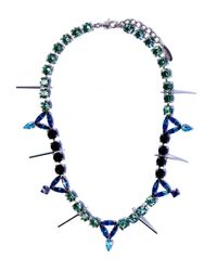 Joomi Lim | Blue Swarovski Crystal Digital Tribe Necklace | Lyst