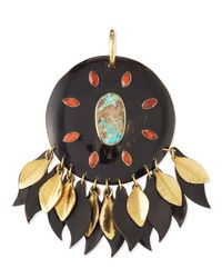 Ashley Pittman | Metallic Ndoto Dark Horn Medallion Pendant | Lyst