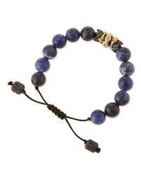 Armenta - Blue Old World Sodalite Beaded Diamond Bracelet - Lyst