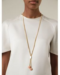 Chloé - Pink 'Ellie' Brass Pendant Necklace - Lyst
