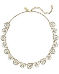 kate spade new york | White Gold-Tone Beach House Bouquet Necklace | Lyst