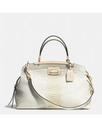 COACH - White Madison Pinnacle Python Embossed Degrade Leather Andie Shoulder Bag - Lyst