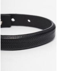 Paul Smith   Black Textured Leather Bracelet for Men   Lyst