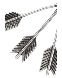 Pamela Love - Metallic Archer Silver Arrow Earrings - Lyst