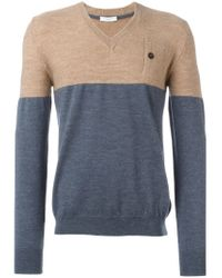 Paolo Pecora - Gray Colour Block Sweater for Men - Lyst