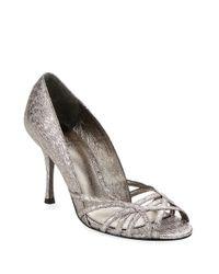 Adrianna Papell | Metallic Fallon Open Toe Sandals | Lyst