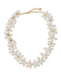 R.j. Graziano | Metallic Golden Pearly Collar Necklace | Lyst