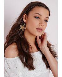 Missguided - Metallic Filigree 3d Star Earrings - Lyst