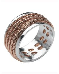 Links of London - Pink Celeste Rose Gold Wrap Ring - Lyst