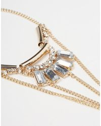 Lipsy | Metallic Anklet & Toe Chain | Lyst