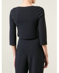 Stella McCartney - Blue Cropped Top - Lyst